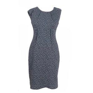 Calvin Klein dress small leopard sheath sleeveless